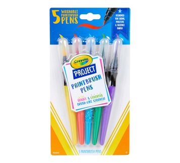 Paint Brush Pens, 5 Count